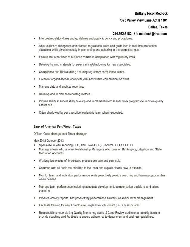 resume brittany n  medlock
