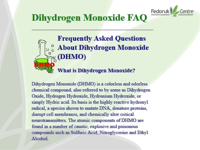 dihydrogen monoxide bananas and a life of absurdity in the nuclear b