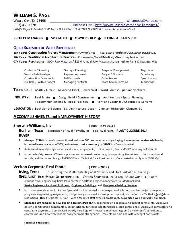 resume project manager william page mar27 2015 general