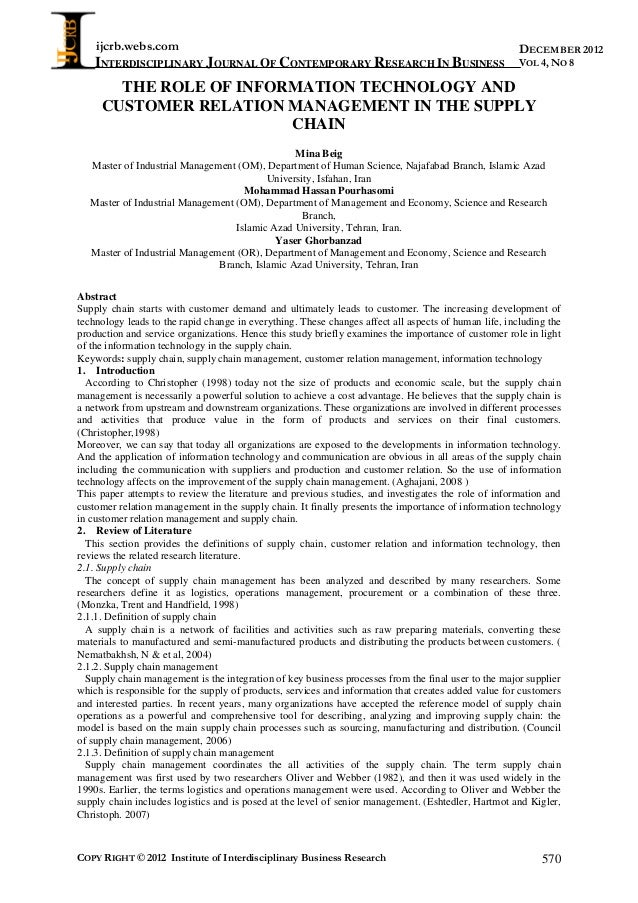 ijcrb.webs.com INTERDISCIPLINARY JOURNAL OF CONTEMPORARY RESEARCH IN BUSINESS COPY RIGHT © 2012 Institute of Interdiscipli...
