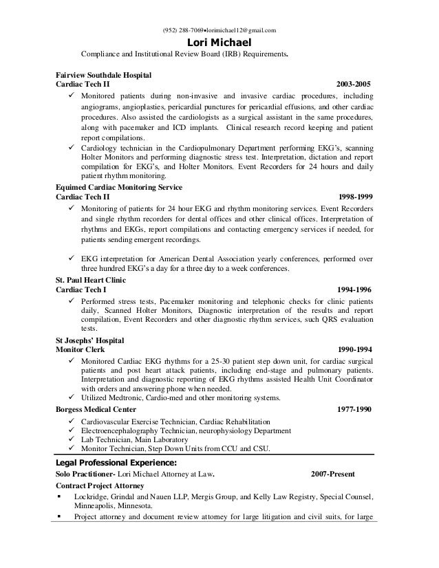 Understanding Of FDA Study Requirements And 501K; 4.  Compliance Resume