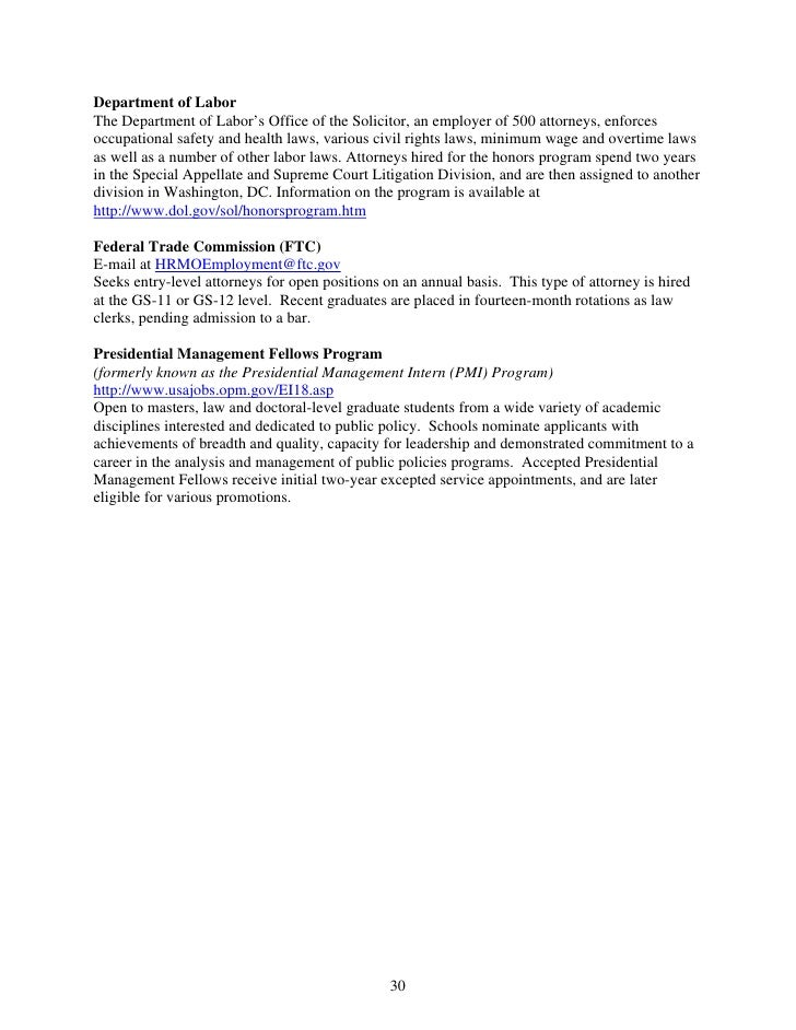 859 0708fedlegalempguide for Department of interior jobs washington dc