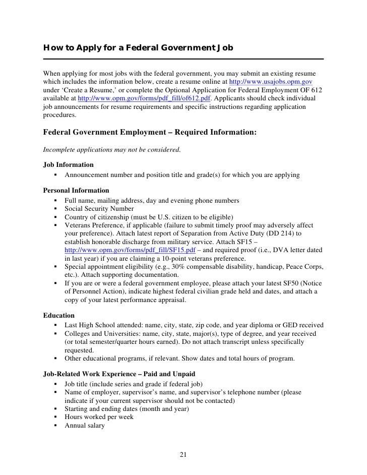 Opm Resume Requirements Bestsellerbookdb