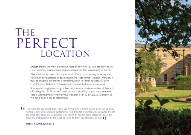 Oulton Hall Wedding Brochure