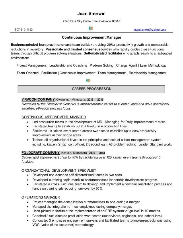 Jean Sherwin resume