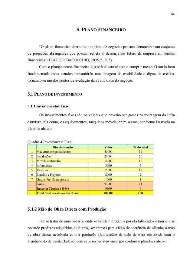 85986227 plano de negocio padaria453 Resumo Plano De Negocios #3