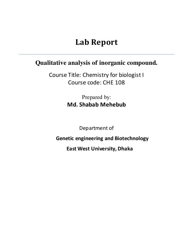 qualitative analysis lab report Variables and hypotheses in this qualitative analysis by  qualitative data analysis is an iterative  i met with seven young researchers at the mit media lab.