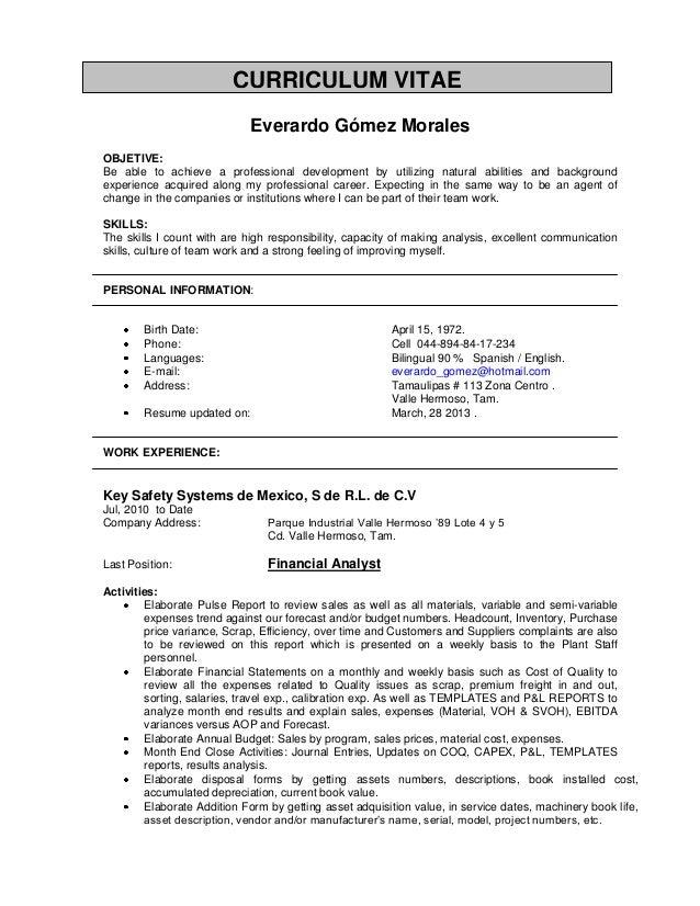 Resume EG