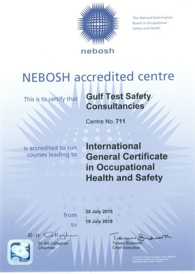 Nebosh Igc Certificate 2015 2018