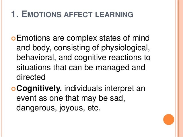 How Emotions Affect Learning Behaviors >> How Emotions Affect Learning Custom Paper Sample Tete De
