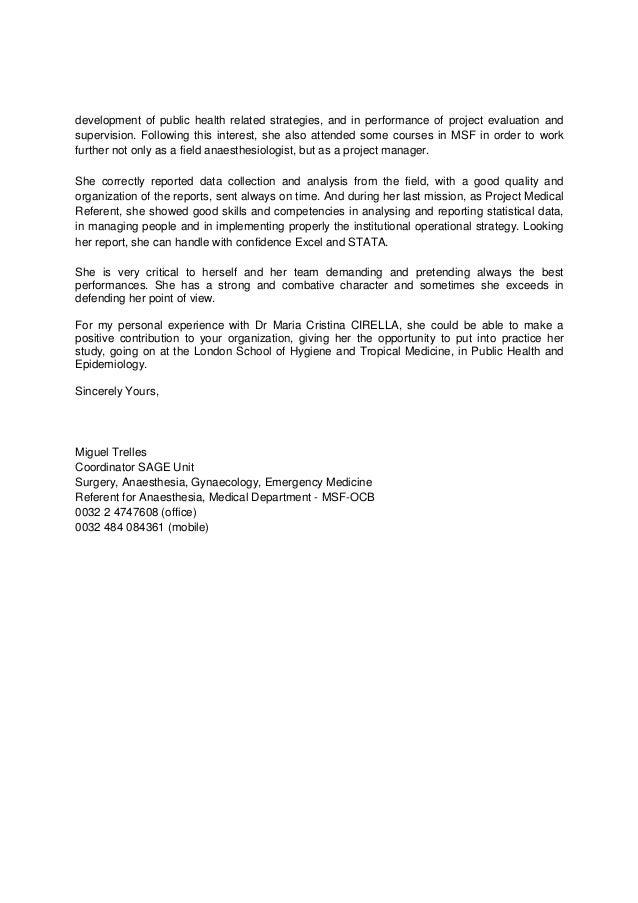 Reference Letter Dr Cirella