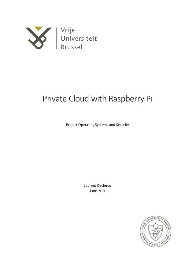 Private Cloud with Raspberry Pi