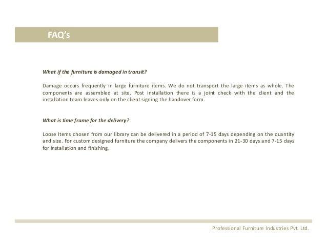 ... Furniture Industries Pvt. Ltd. 12.