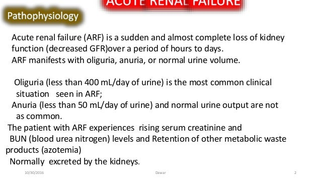 acute and chronic r f and types of dialysis.
