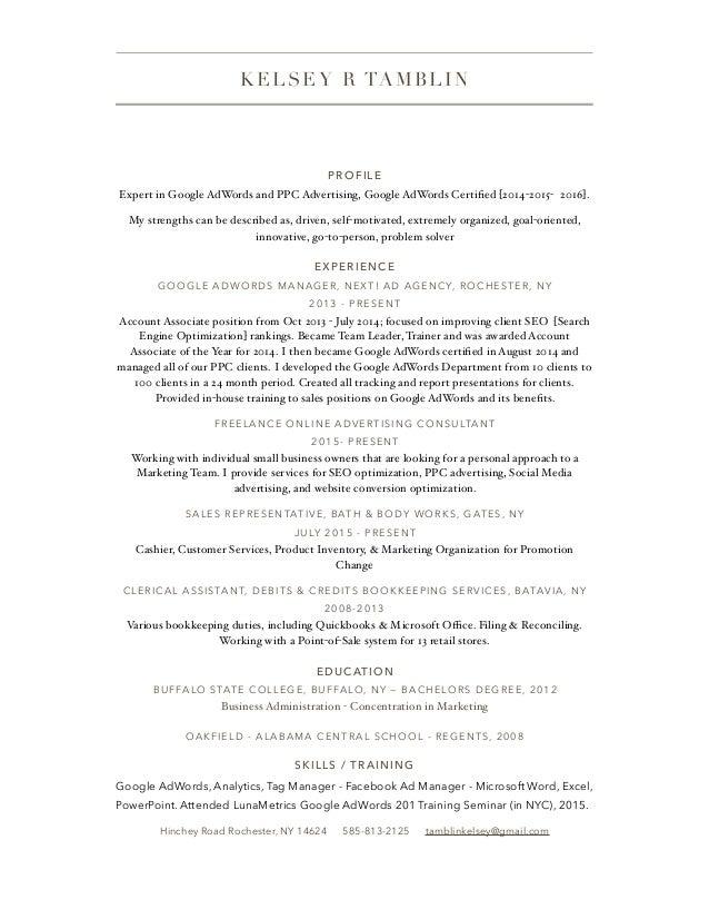 Resume Kelsey Tamblin pdf