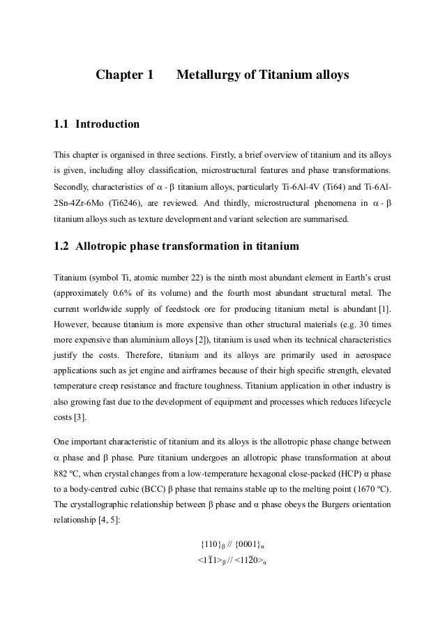 Literature Review Of Titanium Alloys And Linear Friction Welding