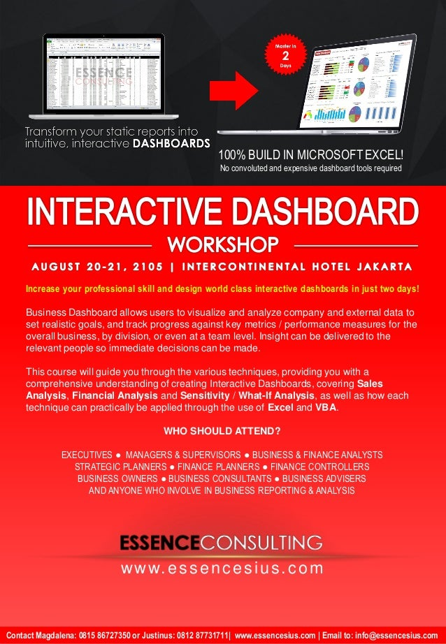 Flyer for Dashboard Aug 2015