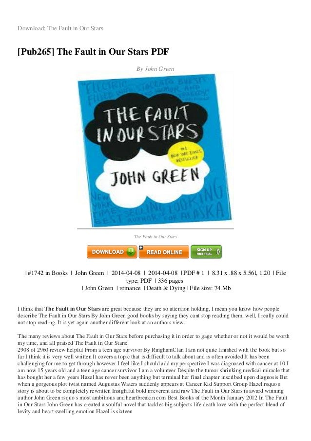 Download The Fault In Our Stars Pub265 PDF
