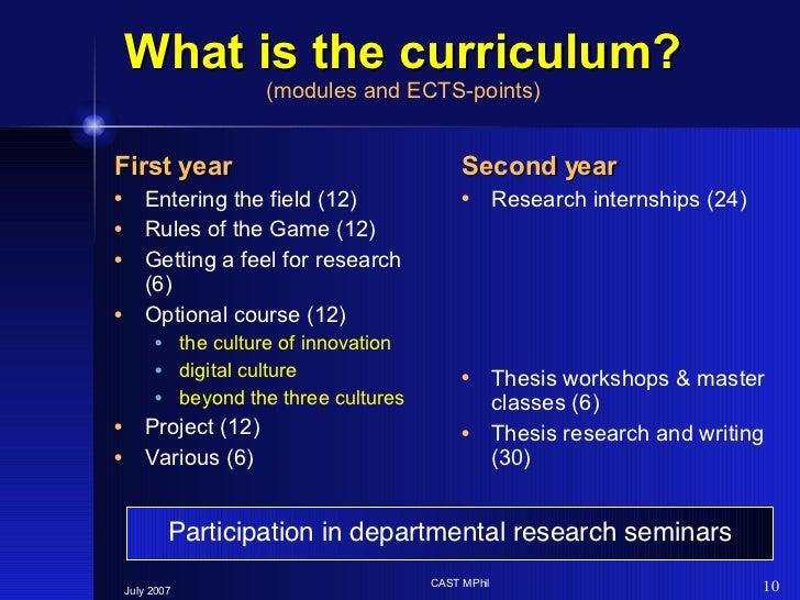 What is the curriculum? (modules and ECTS-points) <ul><li>First   year </li></ul><ul><li>Entering the field (12) </li></ul...