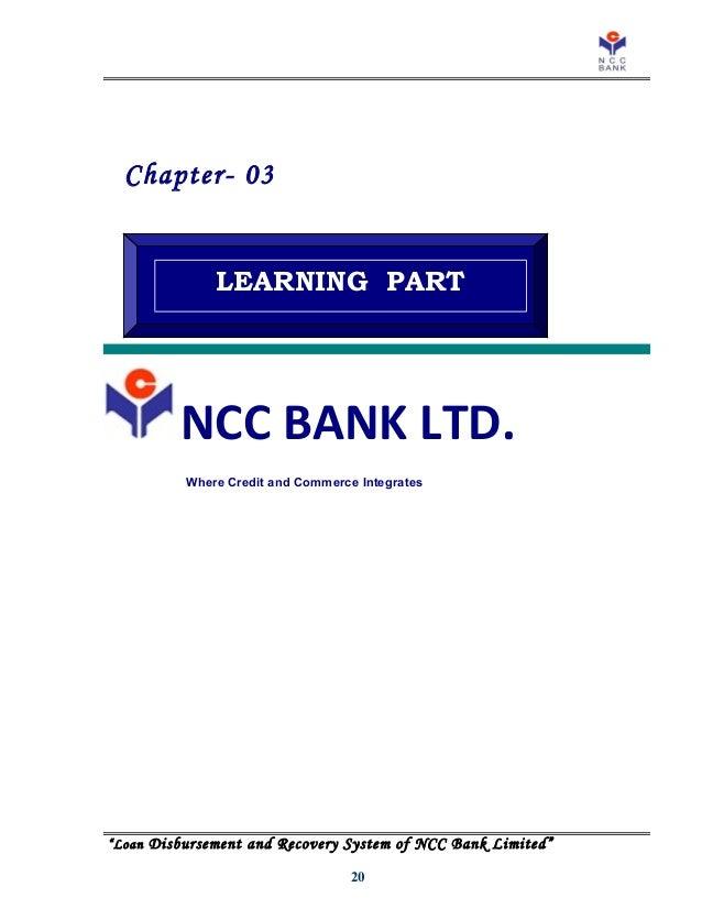 Credit Disbursement Management Og Habib Bank Ltd. Bangladesh