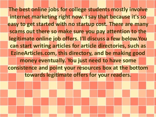 top legit online jobs for college students student education loan