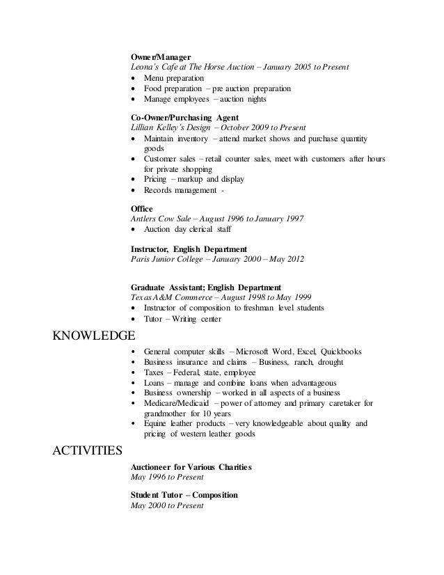 Working Resume 5162015