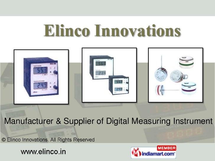 Manufacturer & Supplier of Digital Measuring Instrument