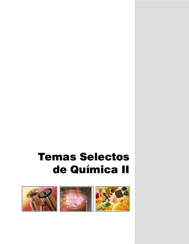 Temas Selectos  de Química II