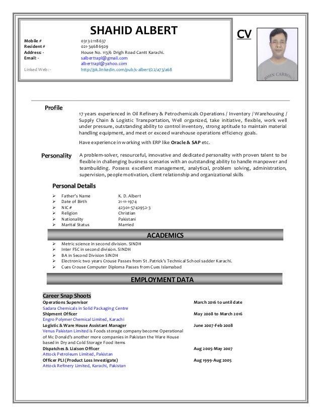 SA CV Updated