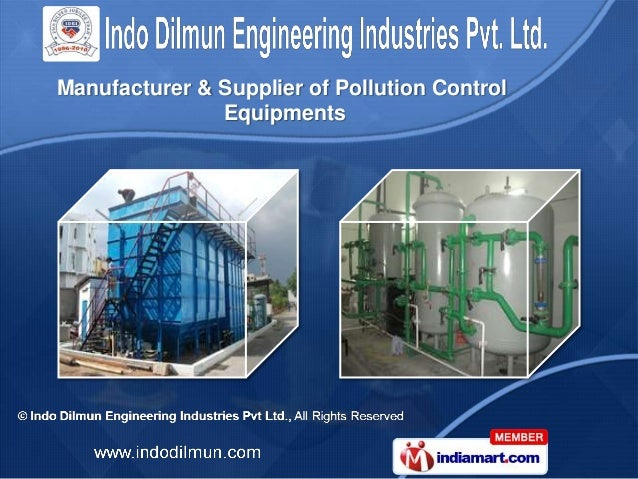 Manufacturer & Supplier of Pollution Control               Equipments