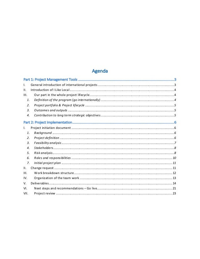 ILL International Project Management Report FINAL – Project Management Report