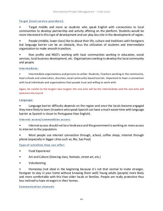 Ill International Project Management Report Final
