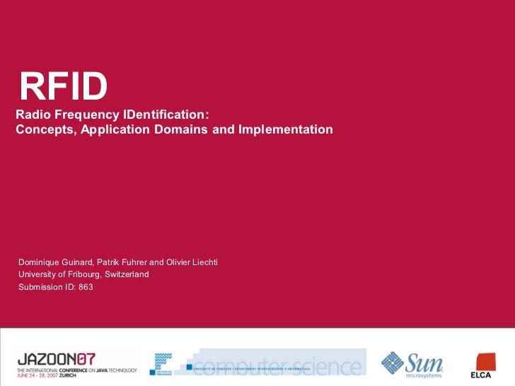 RFID Radio Frequency IDentification: Concepts, Application Domains and Implementation     Dominique Guinard, Patrik Fuhrer...