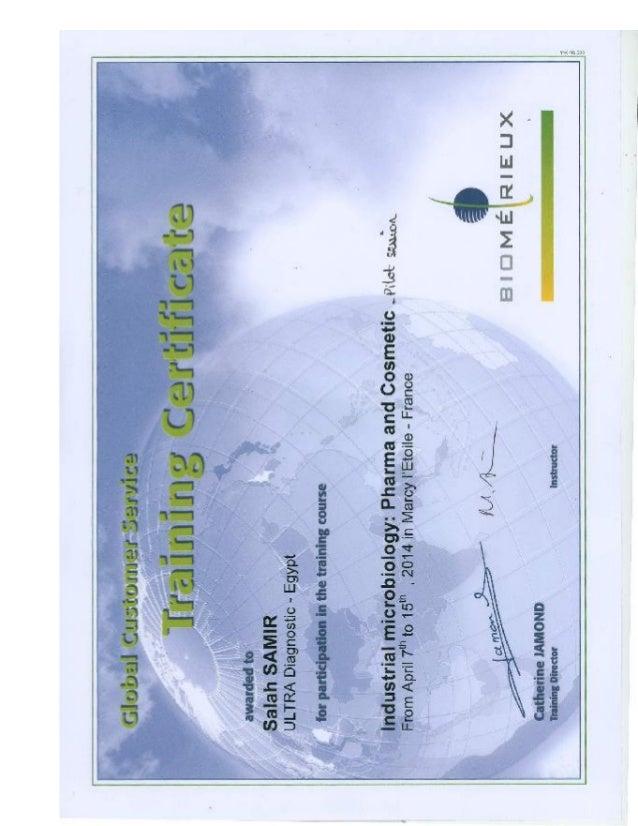 Biomerieux Certificates