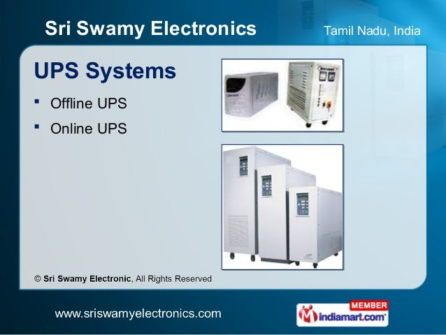 Power Control And Power Back Up Equipment By Sri Swamy