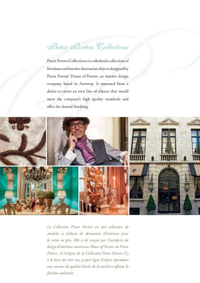 Pieter porters company profile for Livre decoration interieur
