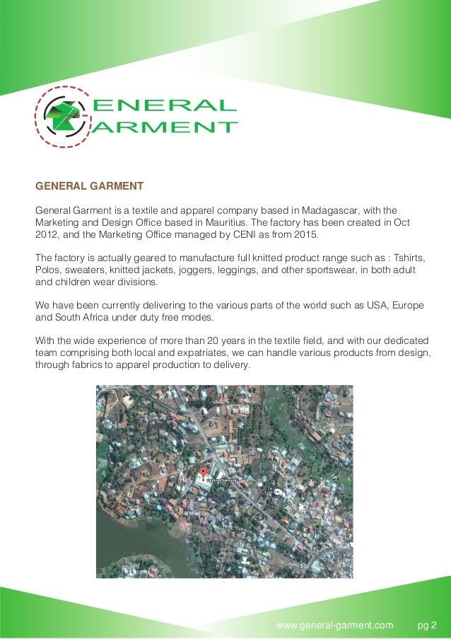 GENERAL GARMENT - COMPANY PROFILE 22 11 16