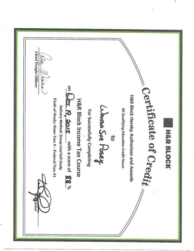 H R Block Diploma
