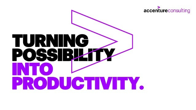 TURNING POSSIBILITY INTO PRODUCTIVITY.