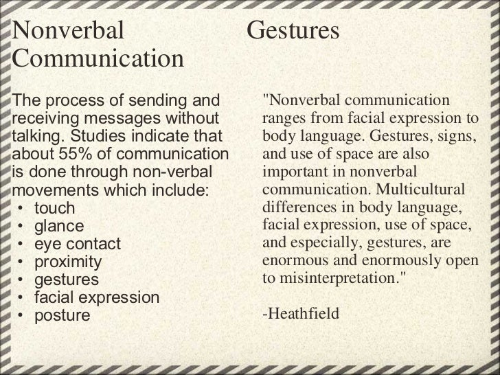 A study of verbal and nonverbal communication in Second ...