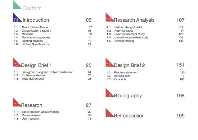 kitchen research design and documentation Design methods is a broad area that focuses on: exploring possibilities and constraints by focusing critical thinking skills to research and define problem spaces for existing products or.