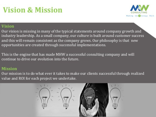 MHW Consulting  Slide 3