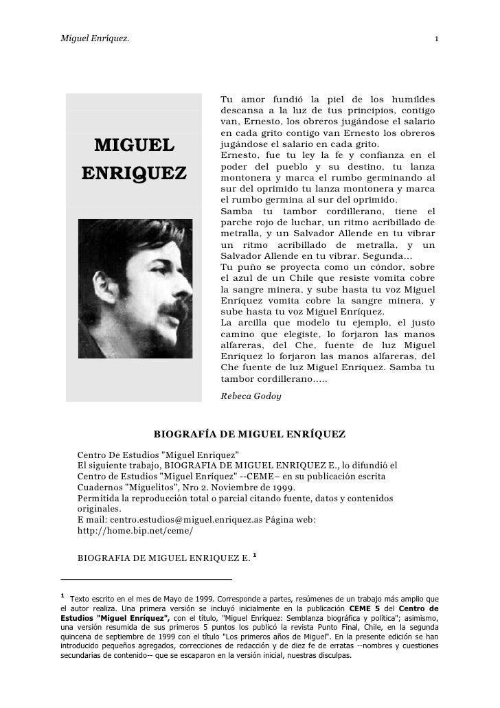 Miguel Enríquez.                                                                                       1                  ...