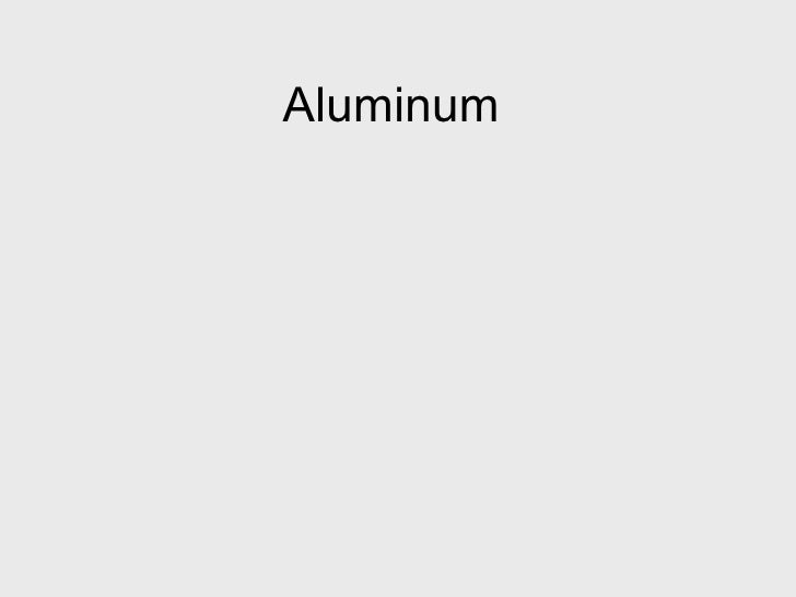 Aluminum Properties And Physical Metallurgy Hatch