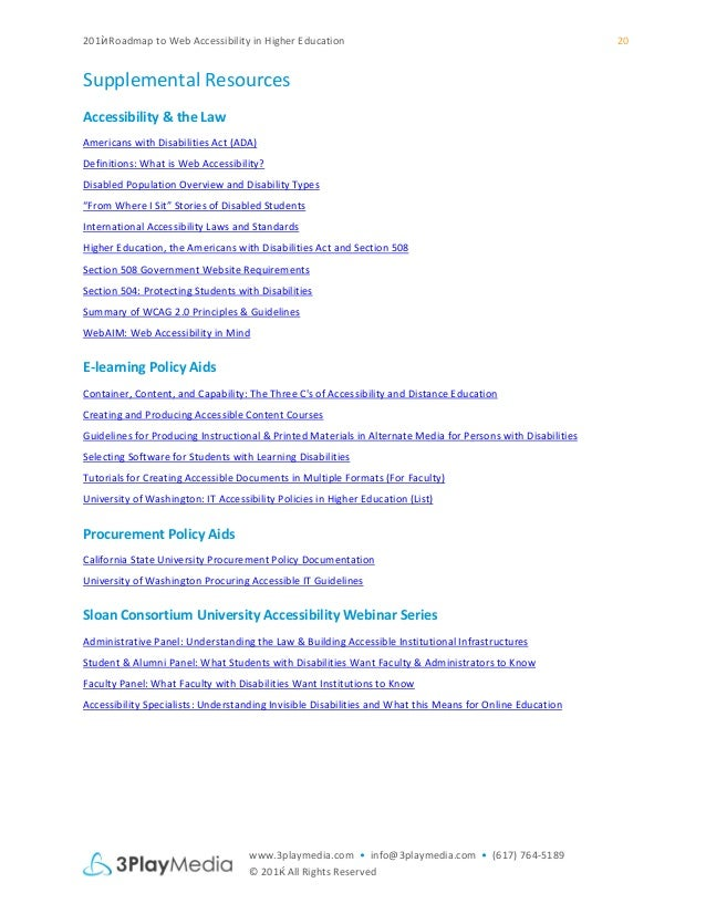 voluntary product accessibility template section 508 - 2015 roadmap to web accessibility in higher education