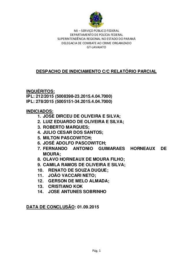 MJ – SERVIÇO PÚBLICO FEDERAL DEPARTAMENTO DE POLÍCIA FEDERAL SUPERINTENDÊNCIA REGIONAL NO ESTADO DO PARANÁ DELEGACIA DE CO...