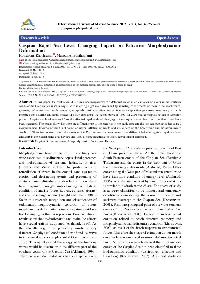International Journal of Marine Science 2013, Vol.3, No.32, 253-257 http://ijms.sophiapublisher.com  Research Article  Ope...