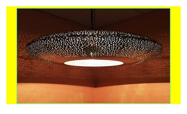 Orientalische Lampe Pendelleuchte Silber Qytura 42cm E27 Lampenfassu