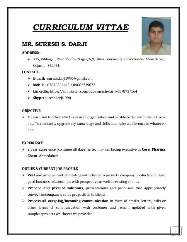 Suresh Darji 2 year experienced technomarketing executive – Andrew Jackson Worksheet