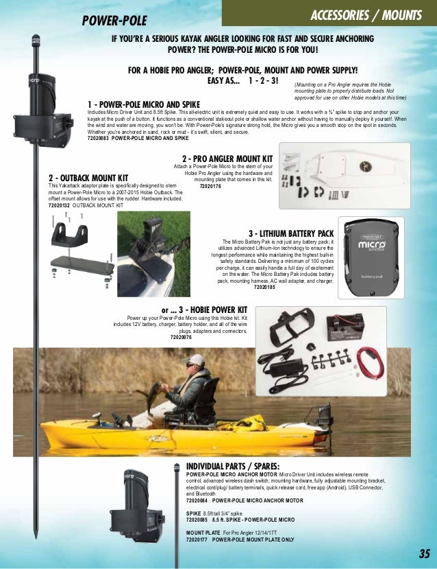 Ingenious Hobie Fishfinder Installation Lithium Ion Kit For I Series Inflatable Mirage Accessories Kayaking, Canoeing & Rafting